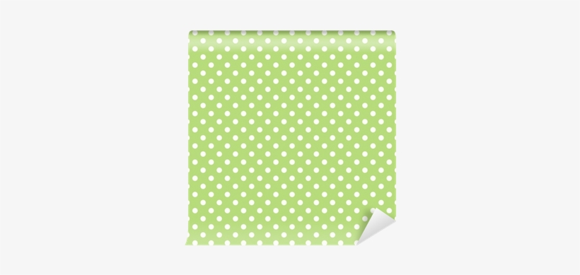 Seamless Vector Pattern With Polka Dots On Green Background - Scarves & Shawls, transparent png #4190364