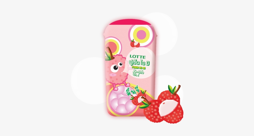 Lychee Flavor Fusen No Mi Is Bubble Gum Suitable For - Strawberry, transparent png #4193038