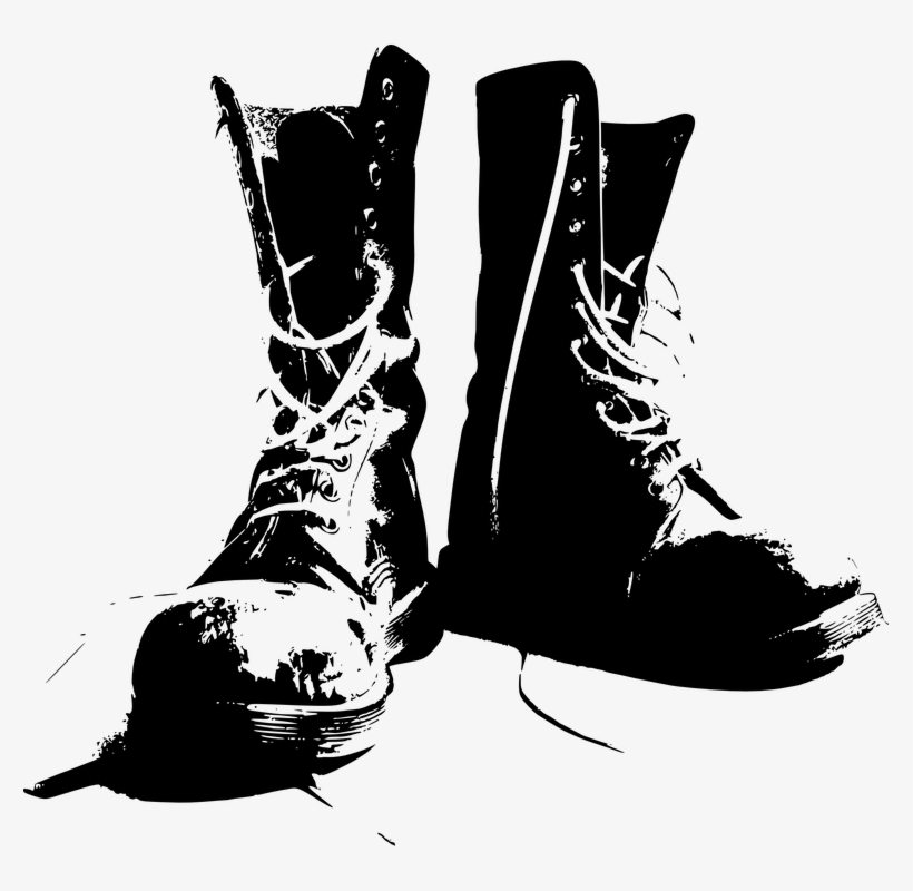 700a89f31aff Illustration Of A Pair Of Gray Boots On A White Background - Combat Boots  Clip Art