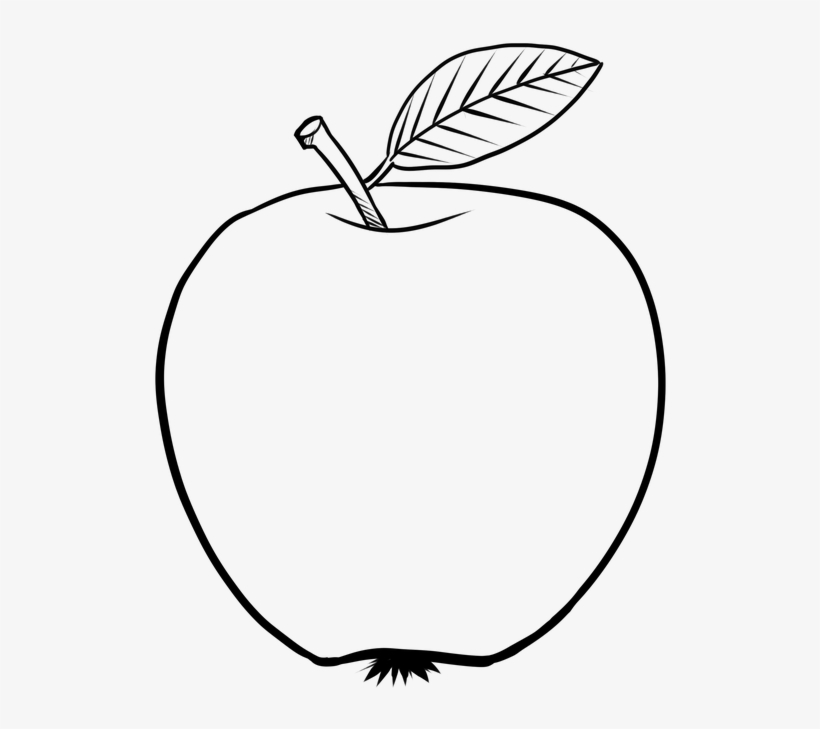 Apple Png Black And White - Apple Coloring Page, transparent png #4193609