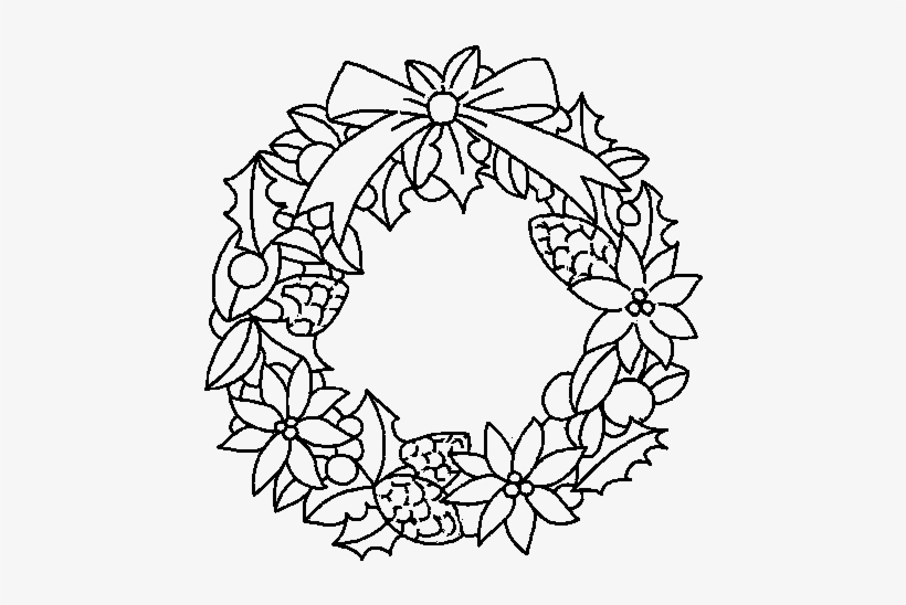 Christmas Wreath Colouring Pages Free Transparent Png Download Pngkey