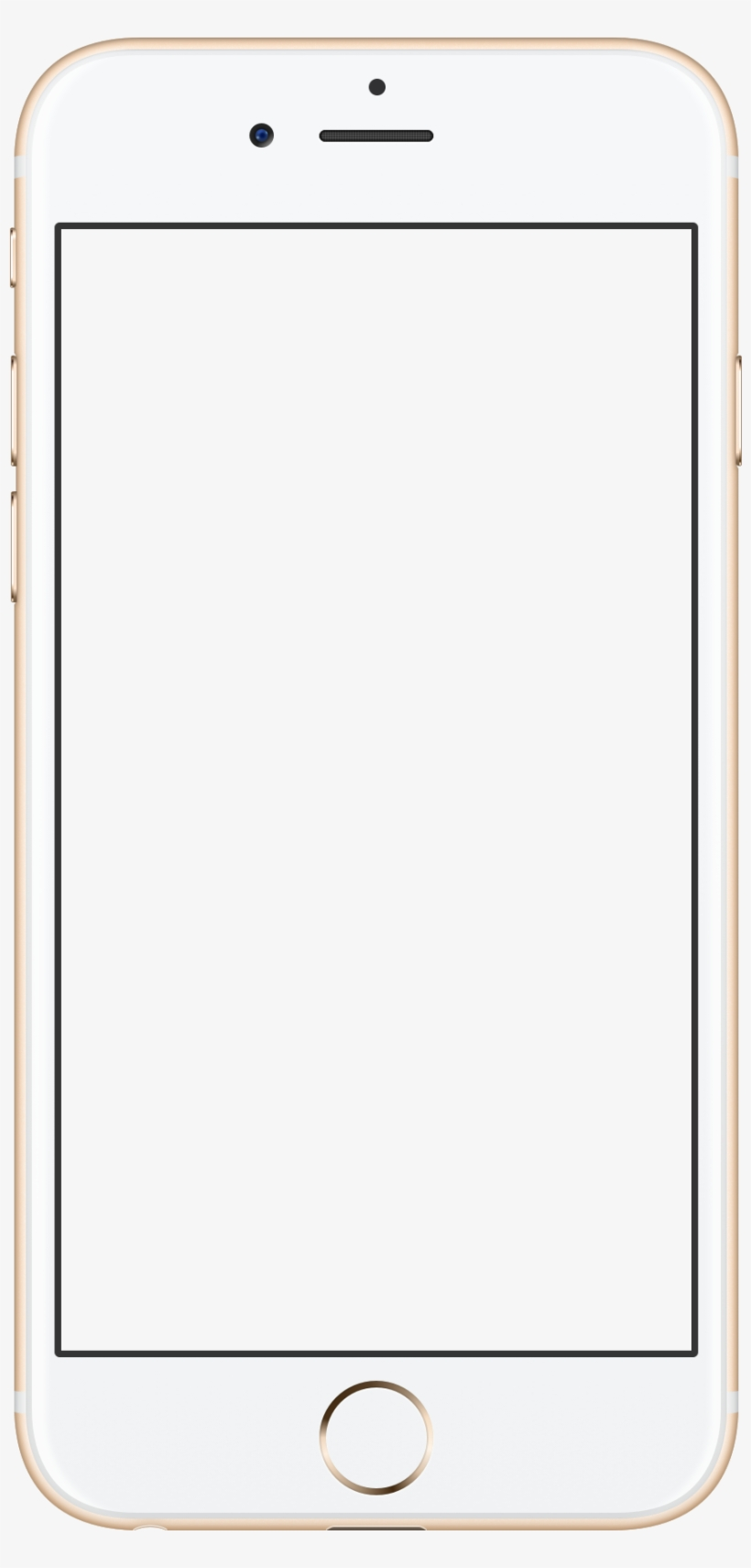 Apple Iphone 6s Rose Gold - Iphone 6 Mobile Frame Png, transparent png #4199212