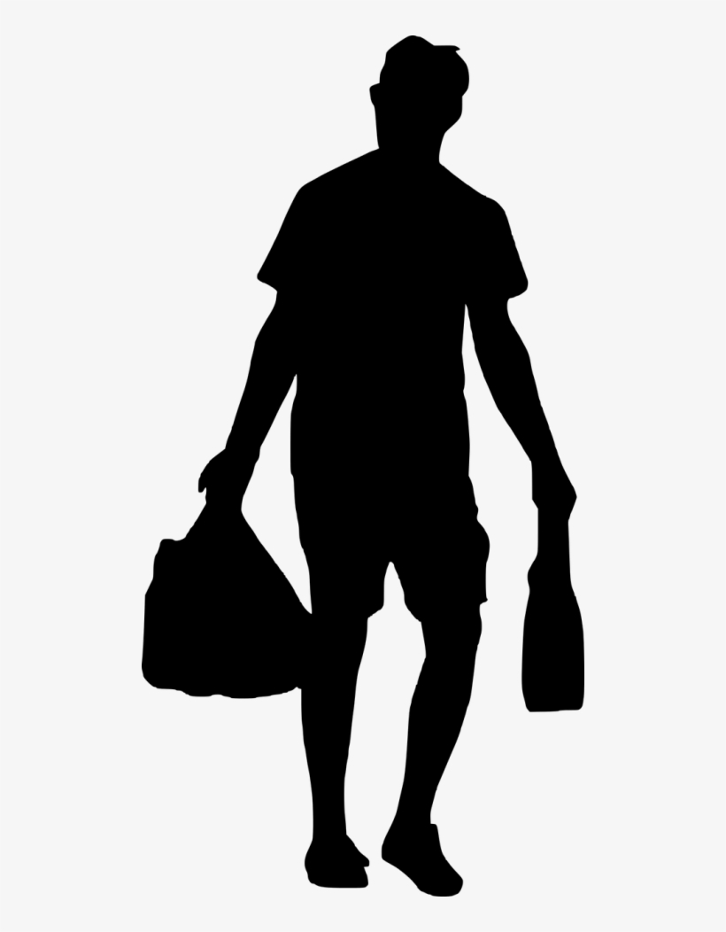 Food Shopping Bags Silhouette, transparent png #420064