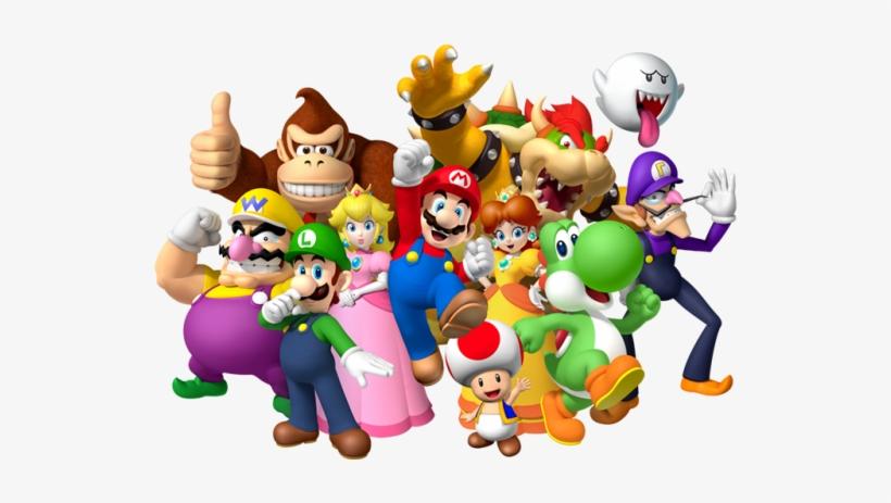 Ci16 Parentssection Introductiontonintendo Nintendocharacters - Super Mario Bros Nintendo Video Gaming Poster 36x24, transparent png #420951