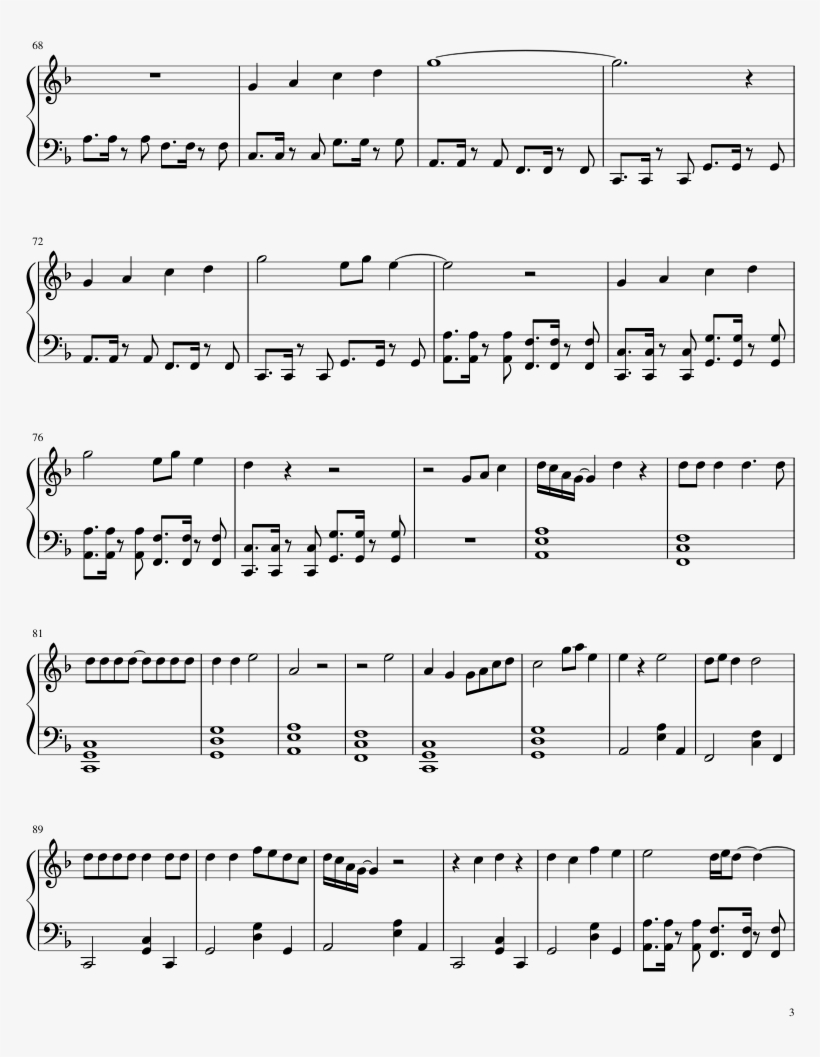 Begin Sheet Music Composed By Bts Jungkook 3 Of 4 Pages