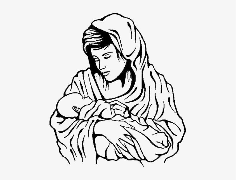 Black And White Jesus And Mary Clipart Free Download Oasis Dl Co