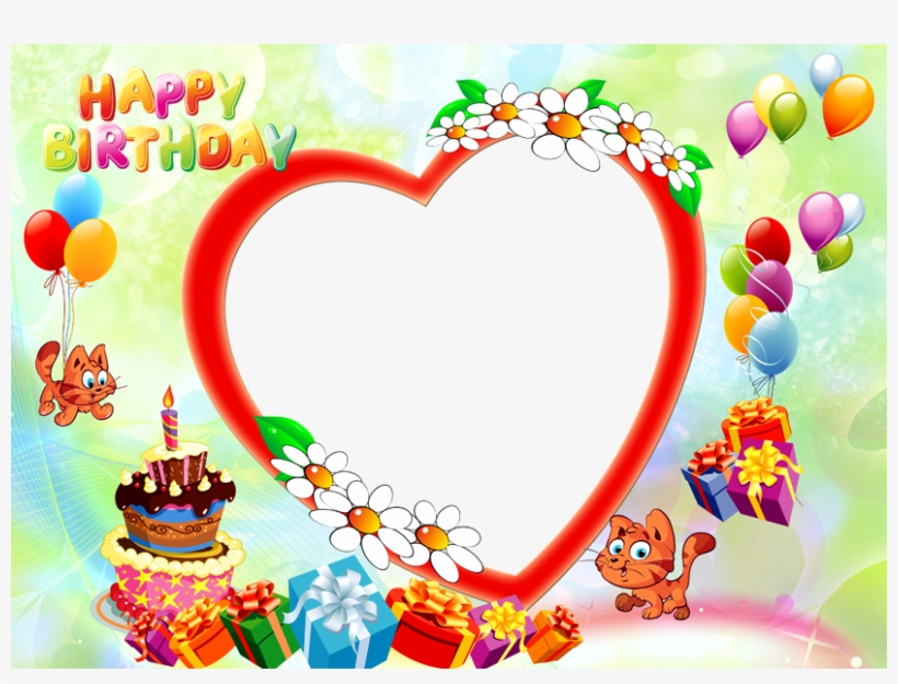 Download Png Images - Happy Birthday Frame Png Hd, transparent png #421922