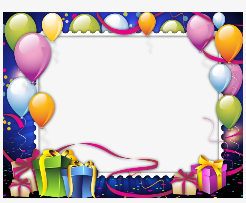 Birthday Frame Png Images Free Download Clip Free - Frames
