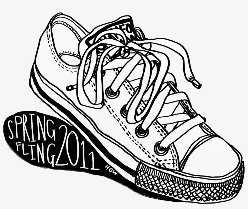 65f88f24dd8ab1 Drawn Converse Sketch - Converse T Shirt Art - Free Transparent PNG ...