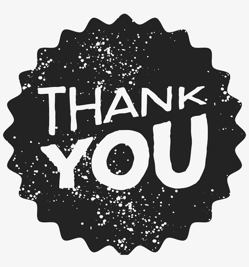 """""""thank You"""" Stamp With Distressed Background - Thank You Transparent Background, transparent png #424110"""