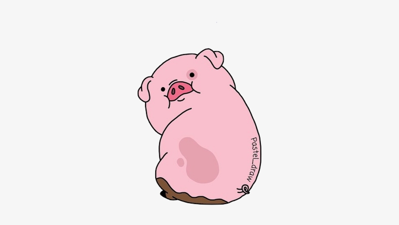 37 Images About Gravity Falls On We Heart It - Pig From Gravity Falls Sticker, transparent png #424642