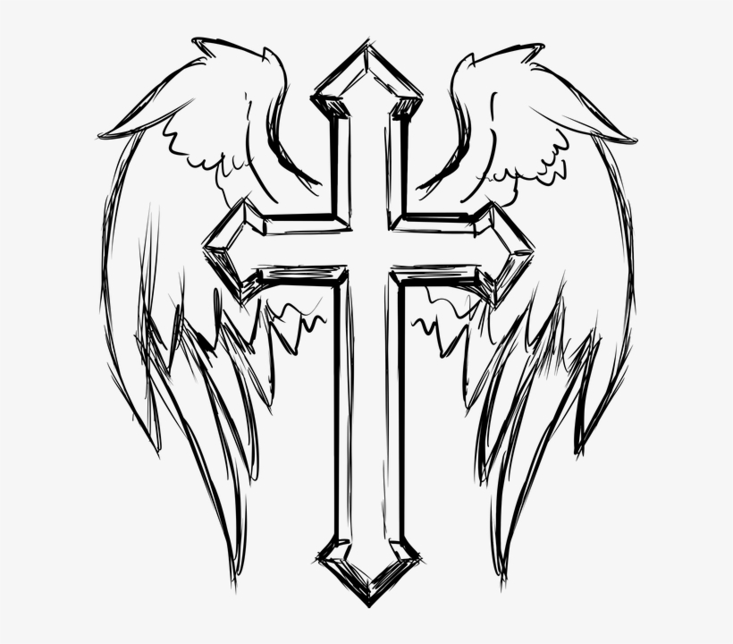 Catholic, Christ, Christian, Church, Cross, Crucifix - Cool Cross Coloring Pages, transparent png #427536