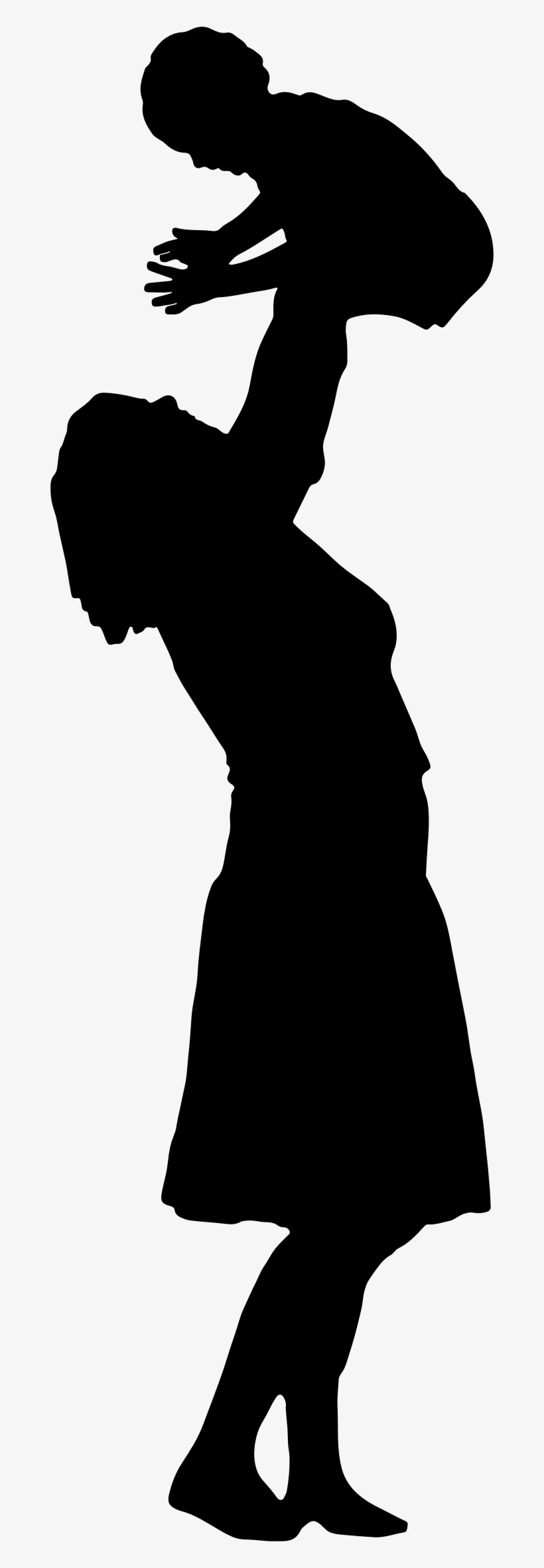 Of Mother And Child At Getdrawings Com - Mom And Baby Silhouette Png, transparent png #427593