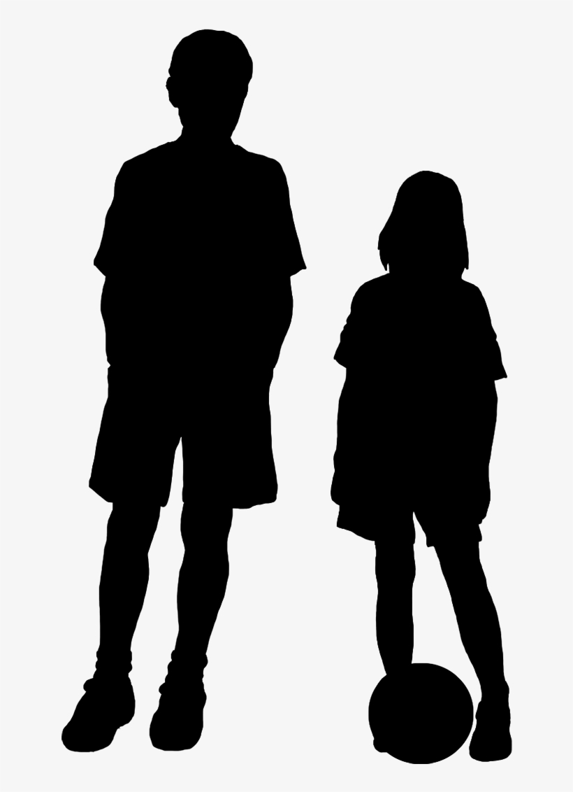 Boy and girl silhouette clip art silhouette child png