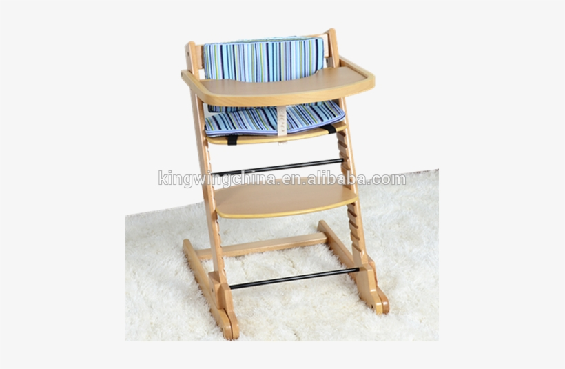 Solid Beech Wood Baby High Chair - Folding Chair, transparent png #429224