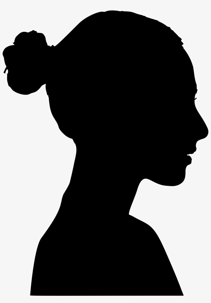 Female Profile Silhouette Download Image As A Png Png - Woman Profile Silhouette Png, transparent png #429422