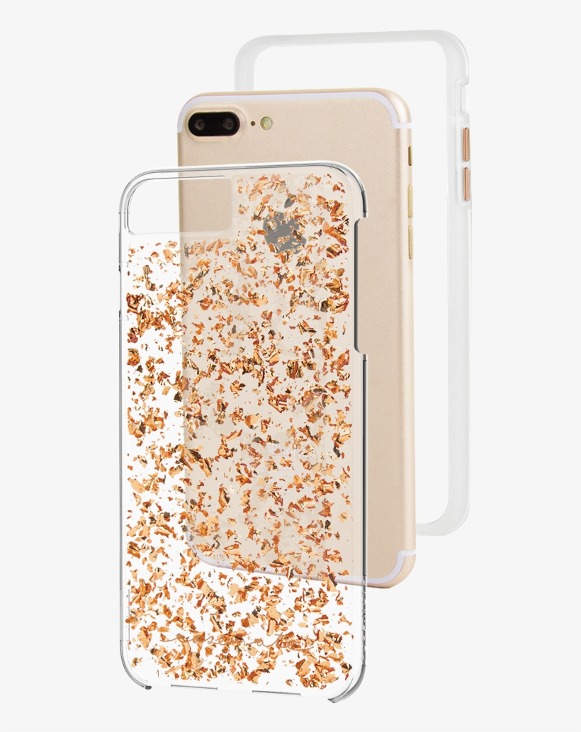 Cmi Iphone 8 Plus Karat Rosegold Cm036166 4 2 - Case-mate Cover For Iphone 7 Plus - Rose Gold Karat, transparent png #429449