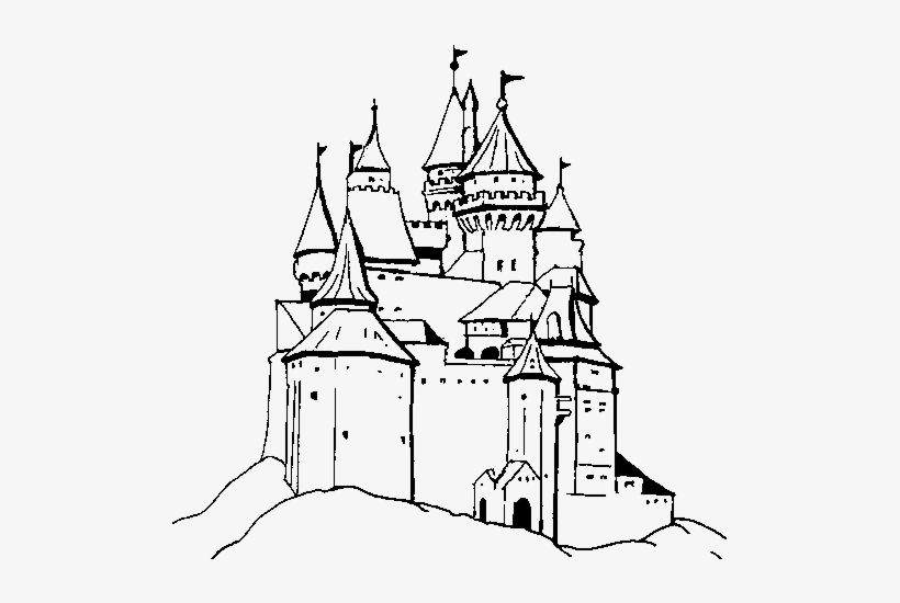 Castello Di Dracula Disegno Free Transparent Png Download Pngkey
