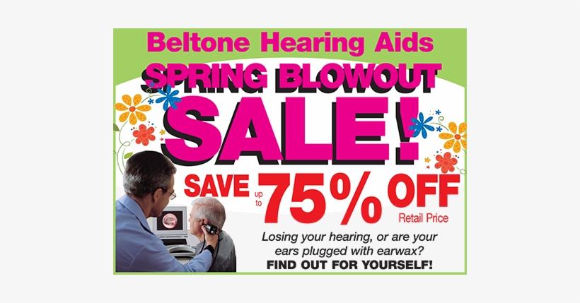 Spring Blowout Sale - Hearing Aid Sale, transparent png #4204258