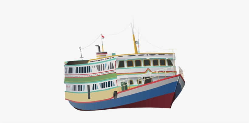 Drawn Boat Ferry Boat - Ferry Boats Vector, transparent png #4205345