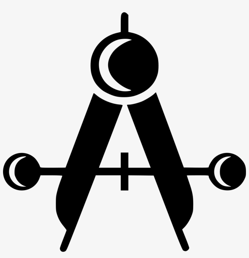 Compass Measure Drawing Geometry Equipment - Mechanical Drafting Icon, transparent png #4205542