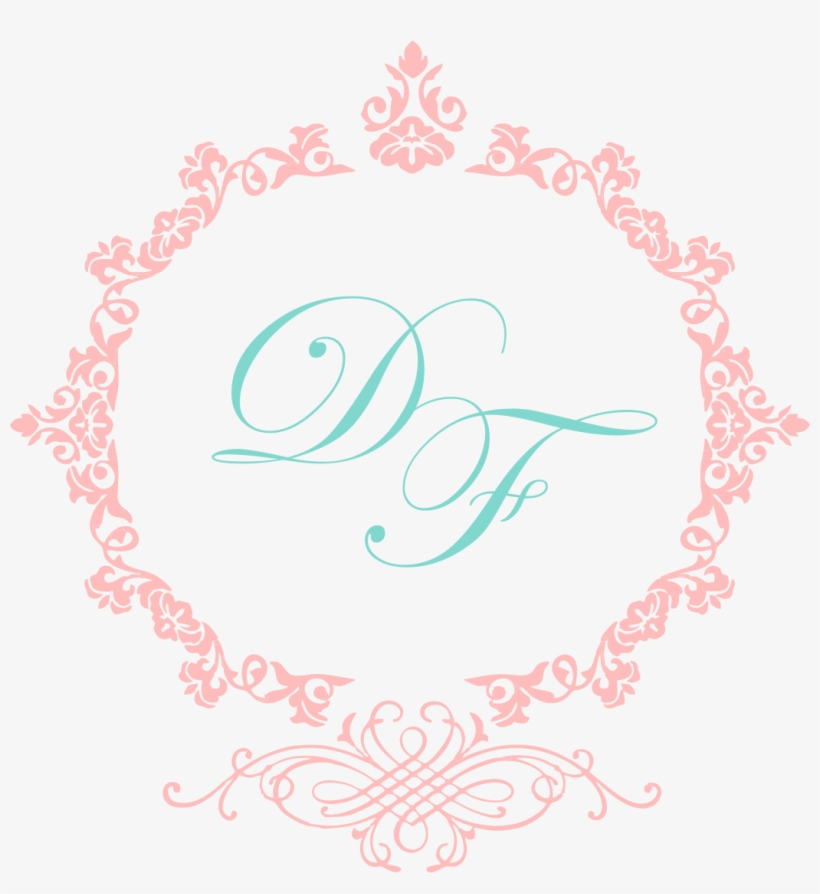Monograma Png Rosa Casamento Moldura Arabesco Redondo Png Free