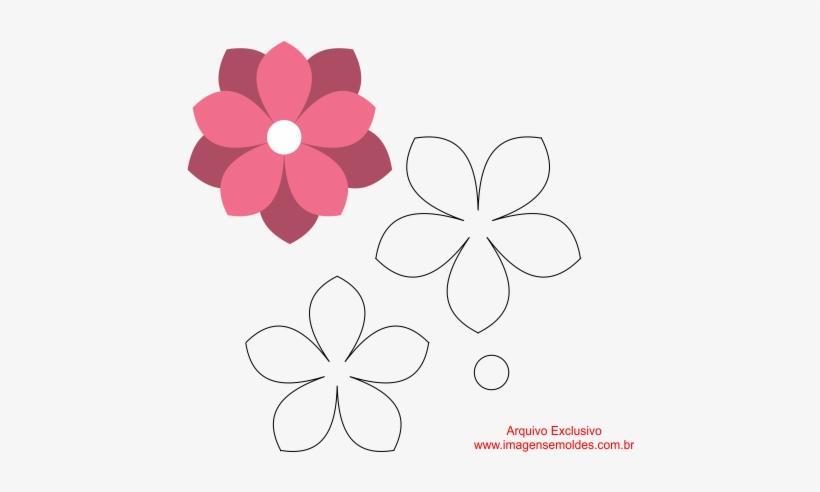 Moldes De Flores Em Eva Para Imprimir Molde Flor Em Eva