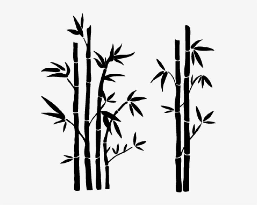 Galho De Bambu Png Desenho De Bambu Preto E Branco Free