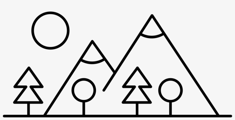 Mountain Side With Trees Made Up Different Shapes Comments - Made Up Of Shapes, transparent png #4212531