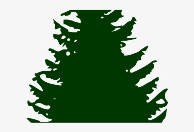 Fir Clipart Ashoka Tree - Silhouette Christmas Tree Png, transparent png #4213016