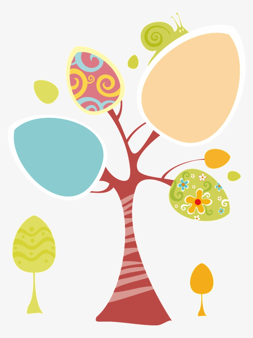 Cartoon Creative Árboles - Eggs On Spring Tree Easter Greeting For Sister Card, transparent png #4213746
