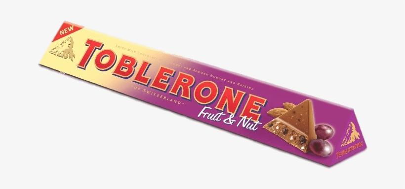 Chocolate Treats - Toblerone Fruit & Nut Milk Chocolate - 3.52 Oz, transparent png #4215484