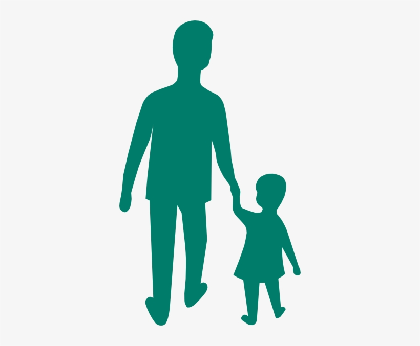 Adult Child Holding Hands Clip Art At Clker - Child Holding Hands With Parent Png, transparent png #4216359