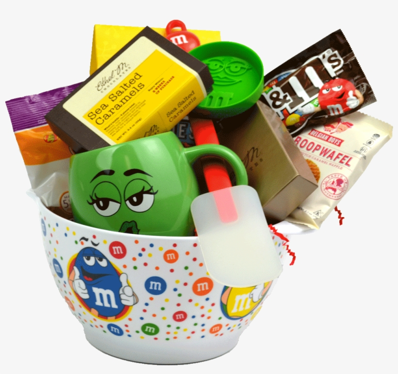 M&m Character Gift Baking Bowl - M&m's Crispy Chocolate Candies - 30 Oz Pouch, transparent png #4217448
