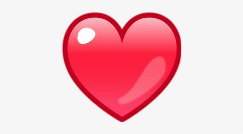 Corazon Emoji Rojo Emoticono Amor