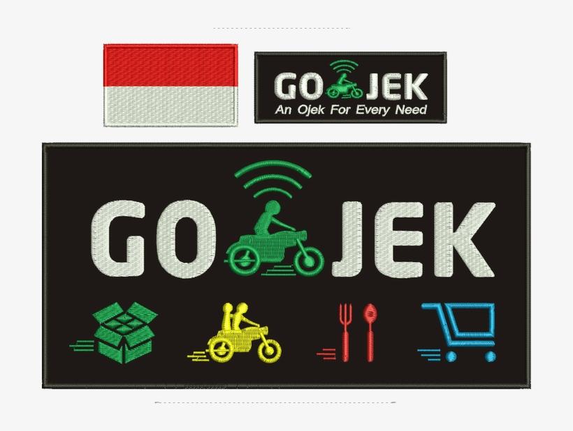 Gojek Bordir Bendera Merah Putih Go Jek Free Transparent Png Download Pngkey