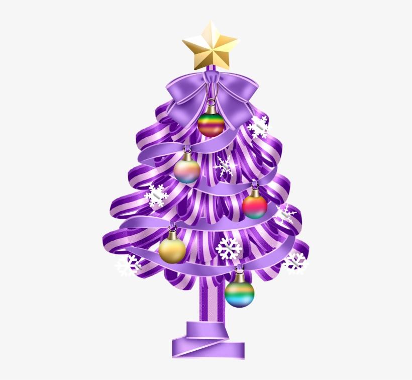De Nuria D • Publicado En Gifs De Arboles De Navidad - Adornos Navideños En Lila Png, transparent png #4226272