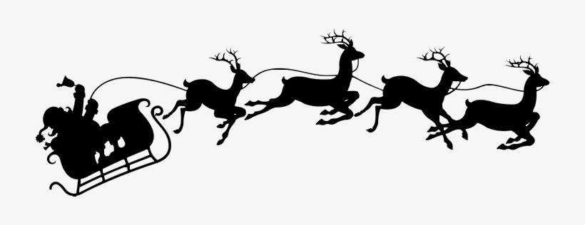Download Santa & Reindeer Image - Santa And Sleigh Svg, transparent png #4228547