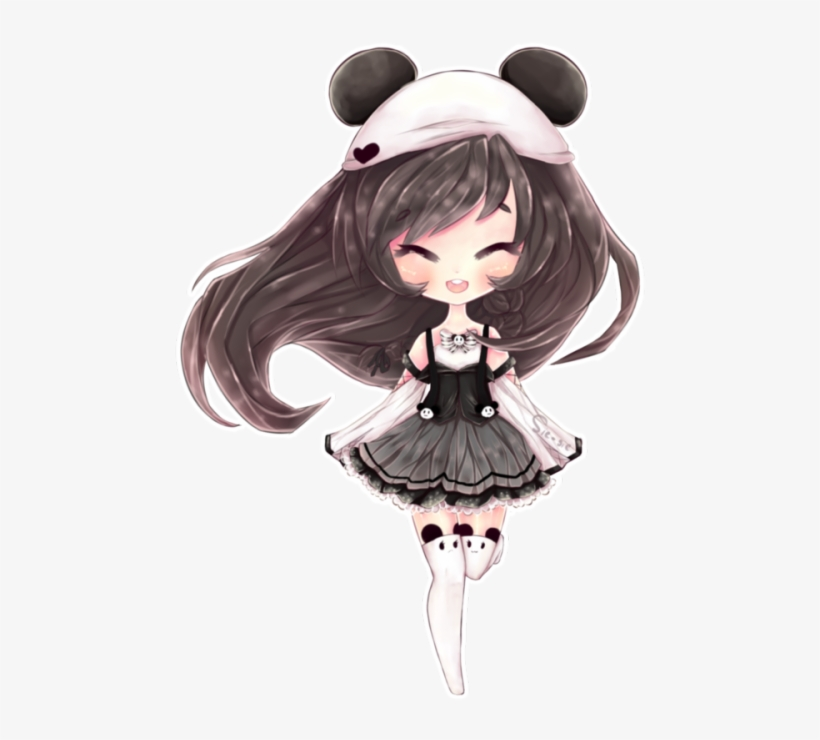 Tumblr N7qnn8pinc1ssgf7so1 - Kawaii Anime Panda Girl, transparent png #4229771