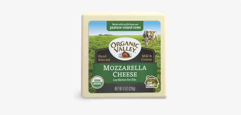 Low Moisture Mozzarella, Part Skim, 8 Oz - Organic Valley Cheddar Cheese, transparent png #4230746