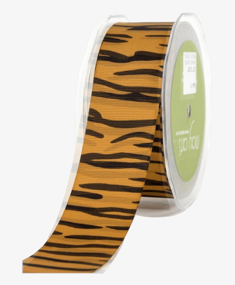 "Tiger Stripe Ribbon - Tigeranimal Print Grosgrain Ribbon 1-1/2""x25 Yards, transparent png #4233940"
