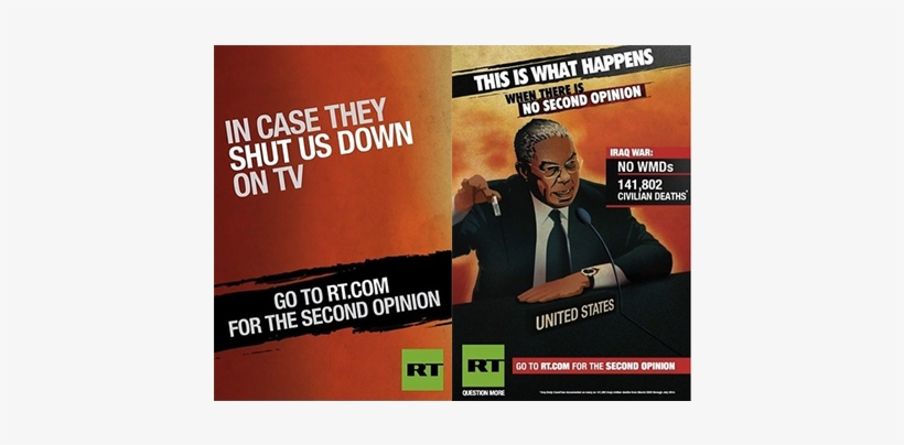 Russia Today Launches Controversial Ad Campaign - News Channel Ad Campaign, transparent png #4235792