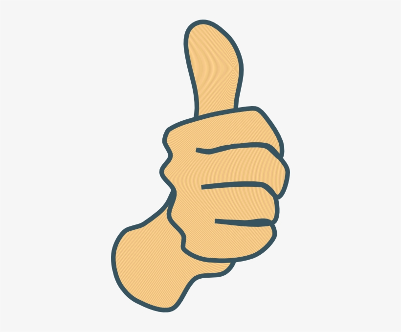 Vector Black And White Stock Thumbs Up Modified With - Thumbs Up Clipart, transparent png #4237002