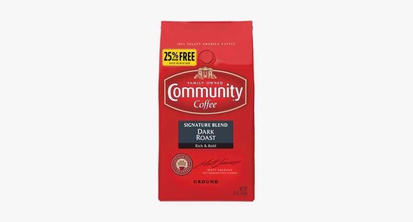 Ground Dark Roast Coffee - Community Coffee New Orleans Blend Ground, transparent png #4238089