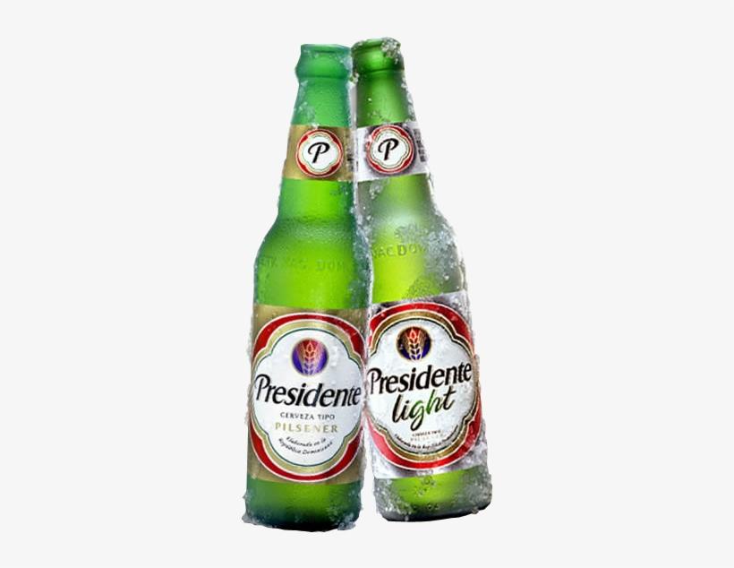 Presidente Y Presidente Light - Presidente Pilsner Type Beer Cerveza 12 Oz Glass Bottle, transparent png #4239973