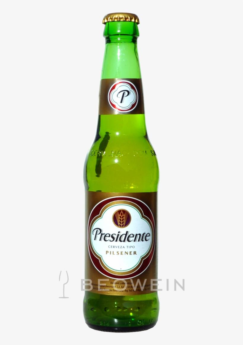 Presidente Pilsener 0,355 L - Presidente Pilsner Type Beer Cerveza 12 Oz Glass Bottle, transparent png #4239978