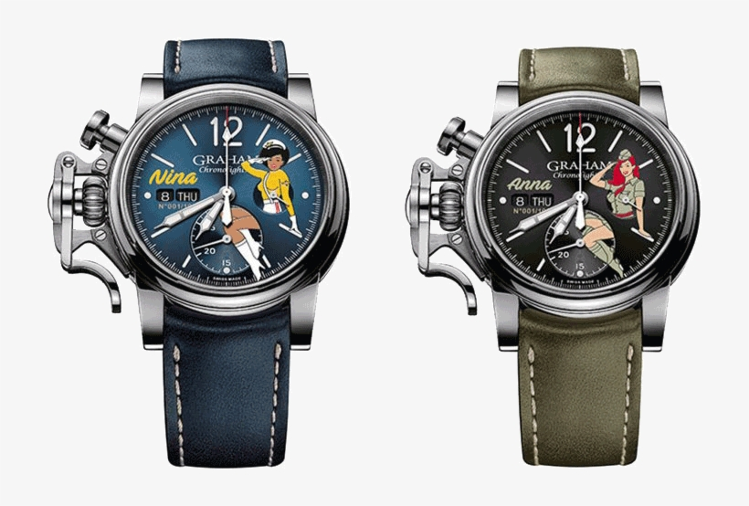 Nina And Anna Are Among The Colourful Personas Starring - Graham Chronofighter Vintage Nose Art Ltd, transparent png #4243550