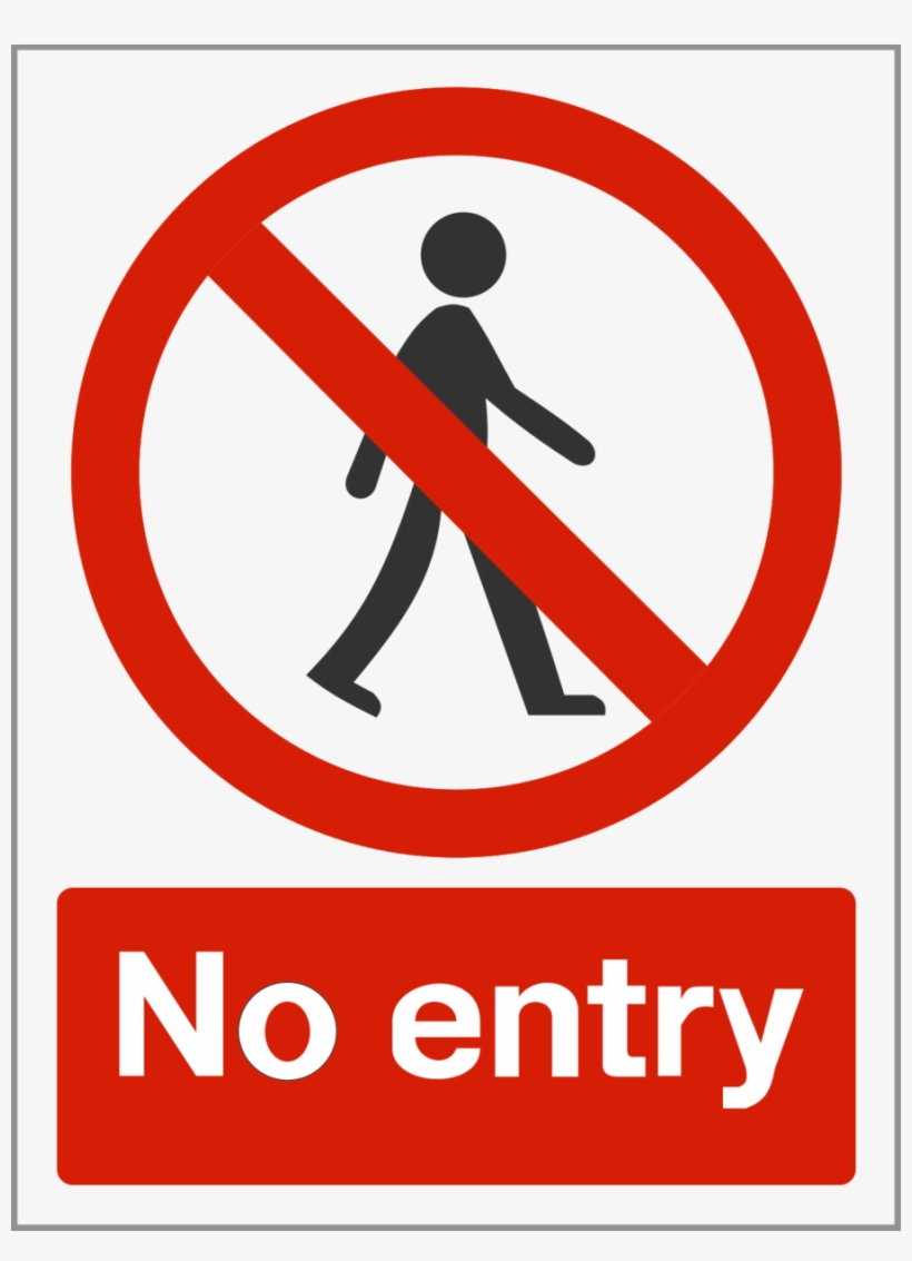Sign Safety Signs No Entry Free Transparent Png
