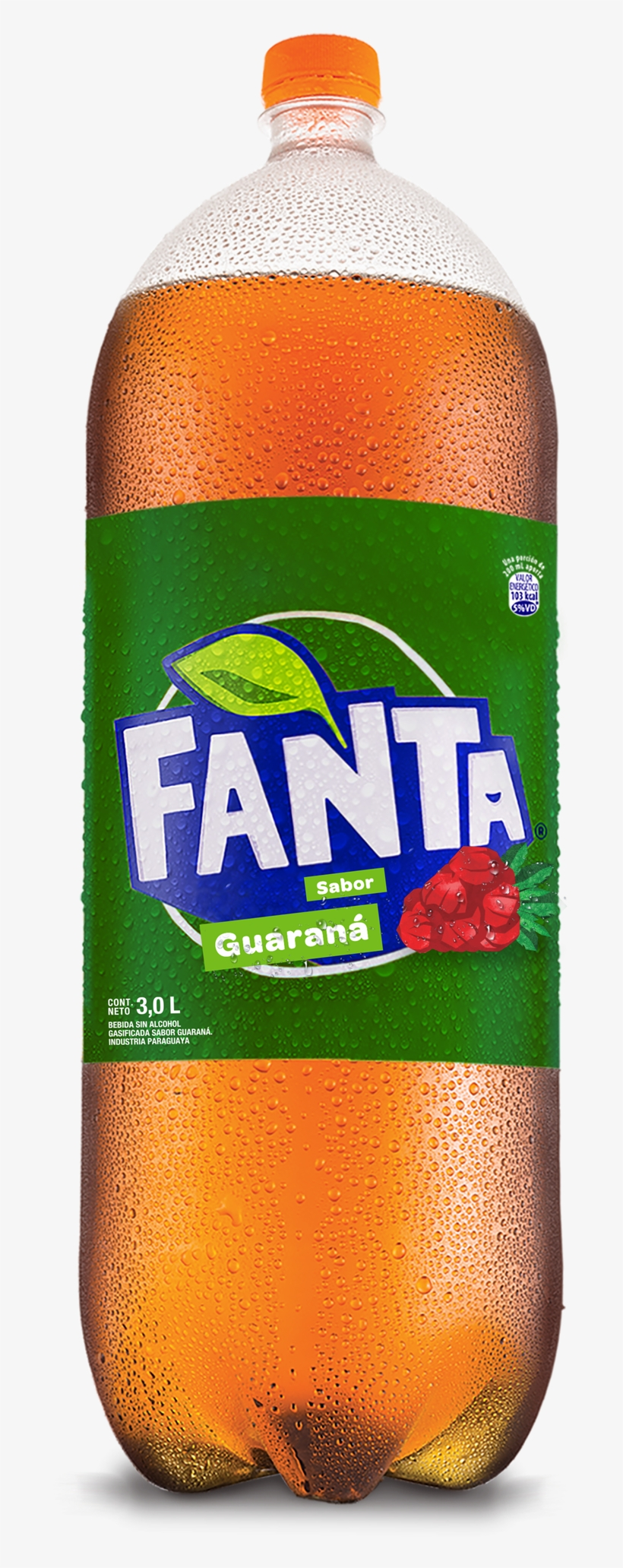 Gaseosa Guarana Logo - Fanta Guarana 3 Litros, transparent png #4253136