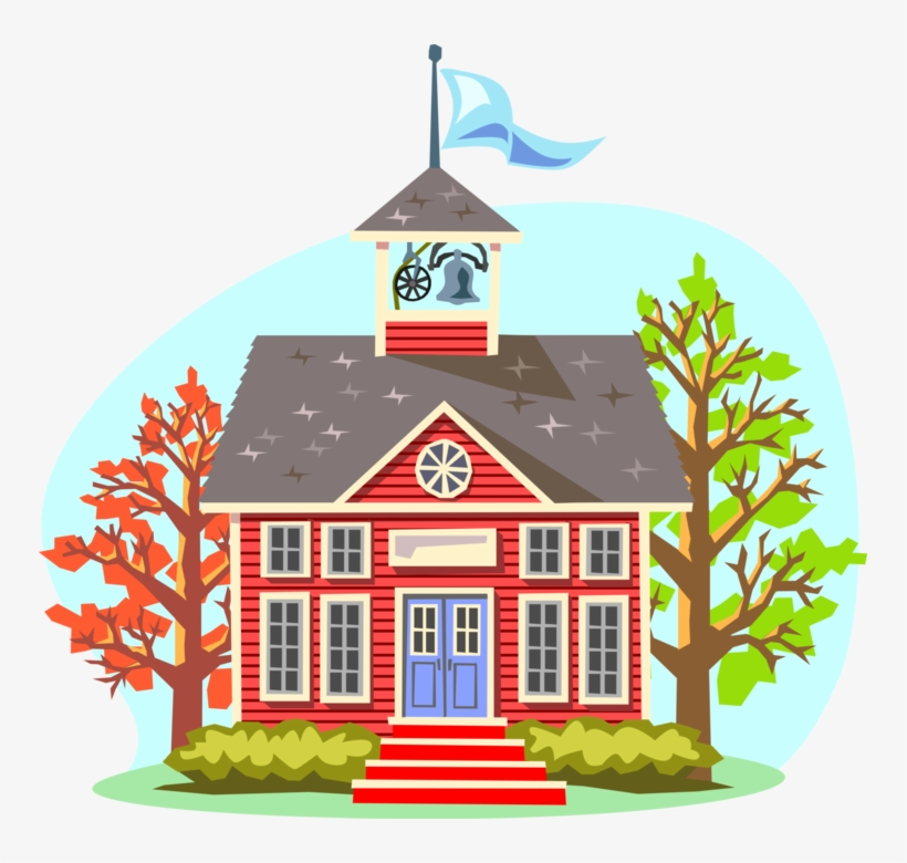 Vector Illustration Of 19th Century Victorian Era Traditional - Cartoon Elementary School, transparent png #4253393